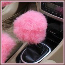 Fluffy Posh Pink Gear Shift Knob Cover