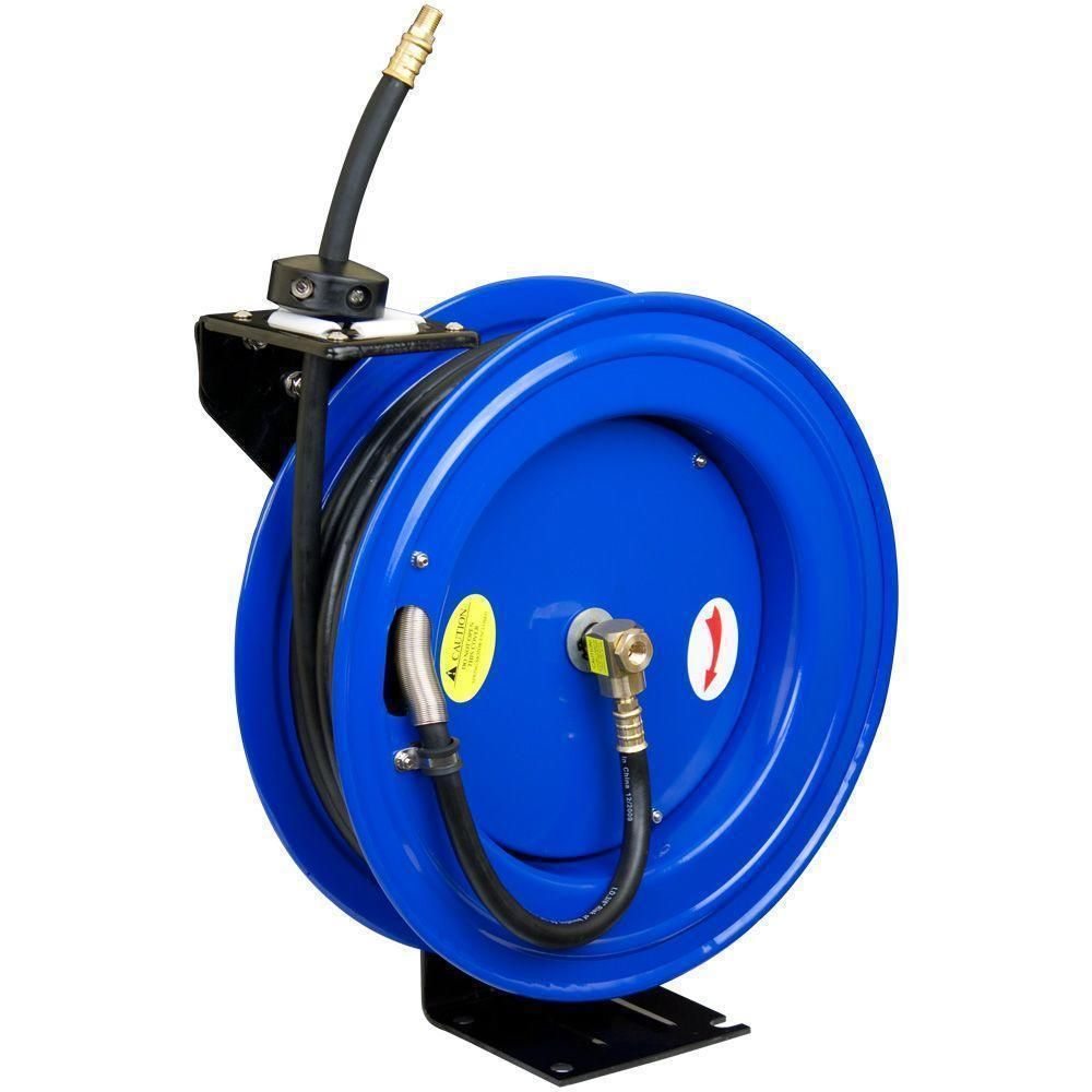 Air Compressor Accessories 50/' Retractable Hose Reel Portable Mountable Swivel