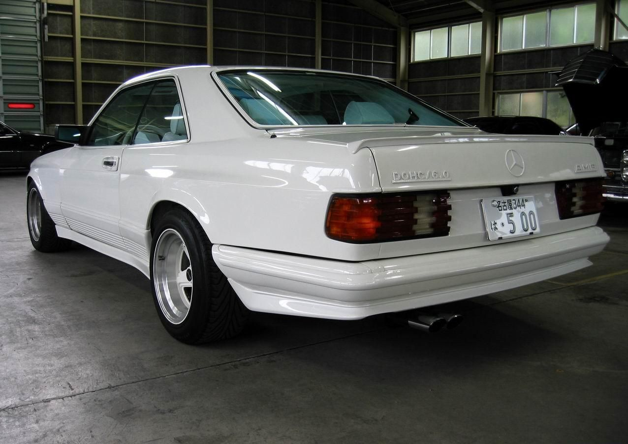 How many amg 6 0 4v w126 sec and sel cars were built amg side shot - Mercedes Benz W126 Amg