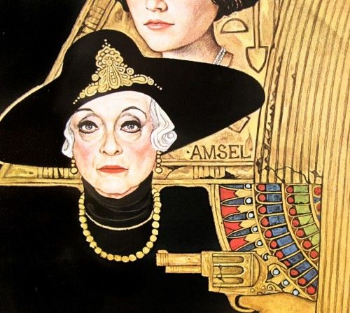 """Bette Davis, detail of Amsel's poster for """"Death on the Nile"""""""