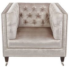 Rita Velvet Arm Chair