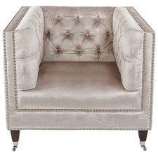 Rita Velvet Arm Chair