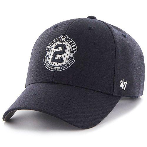 New York Yankees Derek Jeter Retirement Mvp Adjustable Cap By 47 Brand Mlb Com Shop I Want This Hat Derek Jeter Baseball Women Major League Baseball