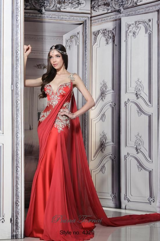 Pnina Tornai Trunk Show Styles From Sleeves To Saris Red Wedding Dresses Indian Bridal Wear Bridal Gowns