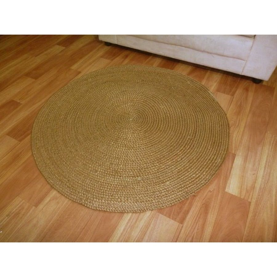 Round outdoor sisal rug