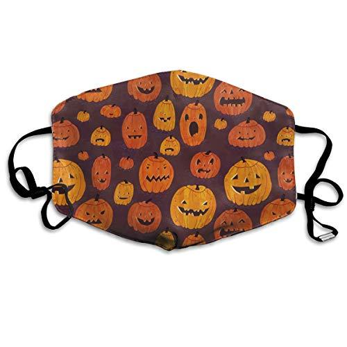 Cartoon Cute Halloween Pumpkin Dust Face Mask For Men