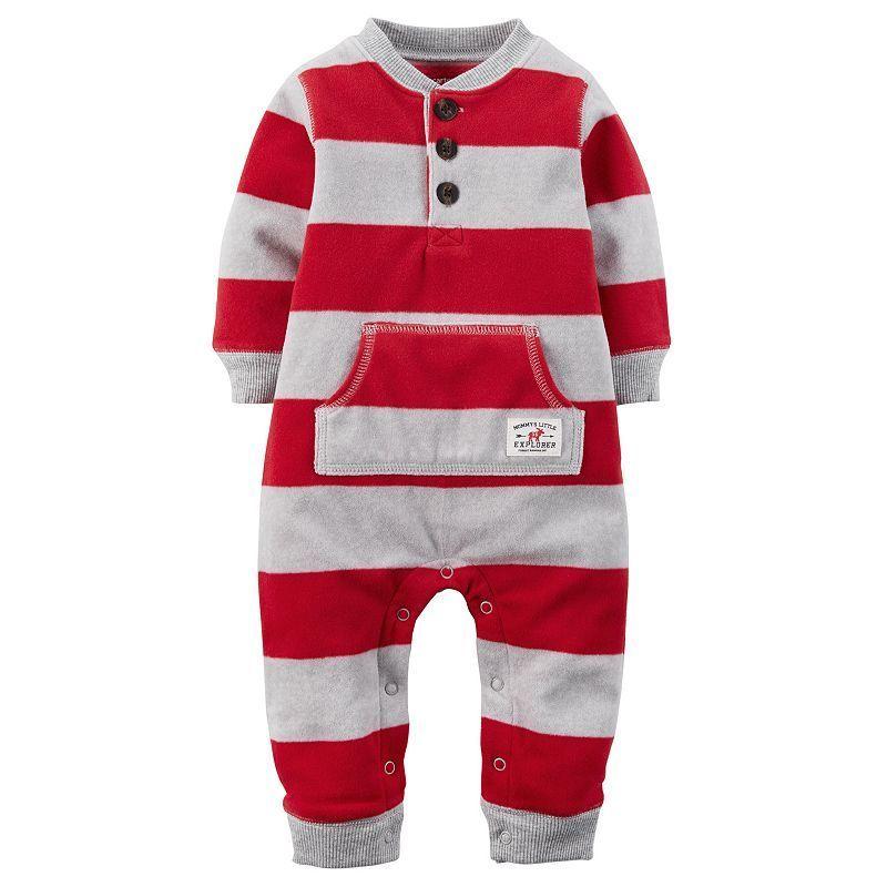2ba07a58e372 Baby Boy Carter s Henley Fleece Coverall