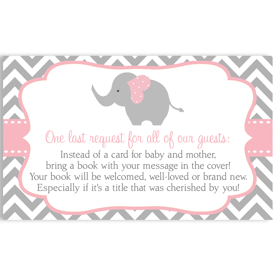 Gianna S Pink And Gray Elephant Nursery Reveal: Chevron Elephant Pink Bring A Book Insert