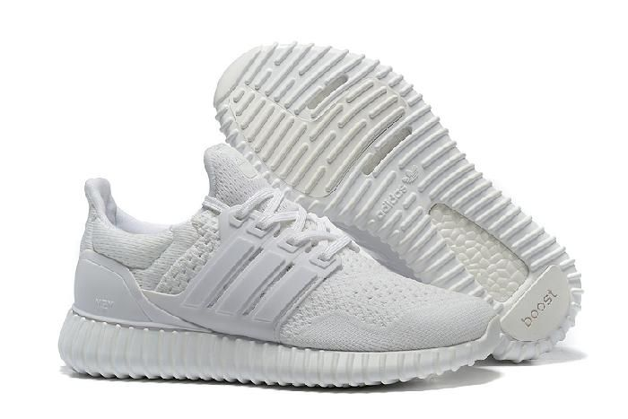 best sneakers 67bfe baf56 Get Nice Wholesale Adidas Yeezy Ultra Boost All White Shoes Shipping With  DHL