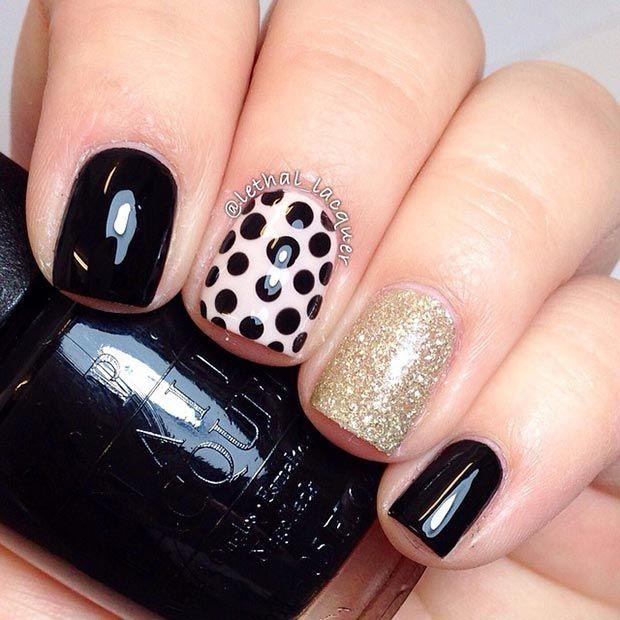 80 Nail Designs for Short Nails | Pinterest | Short nails, Gold nail ...