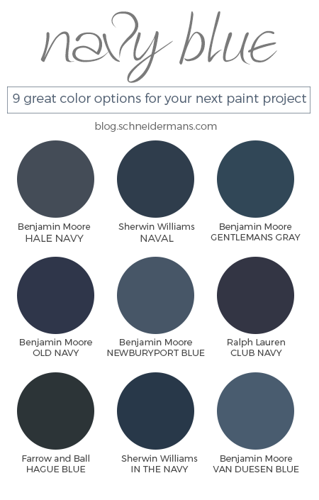 Navy Blue Is Trending And There Are A Lot Of Paint Colors Which The Best One For Your E We Ve Got Nine Options You In This Post