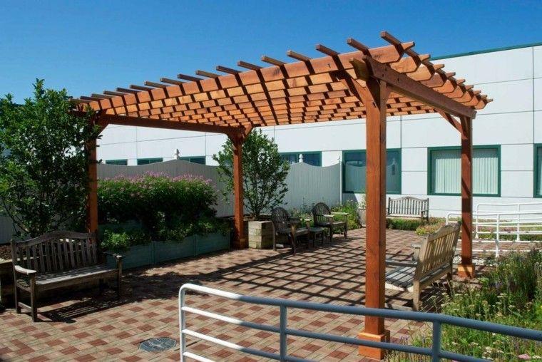 pergolas de madera jardin patio - Pergolas Jardin