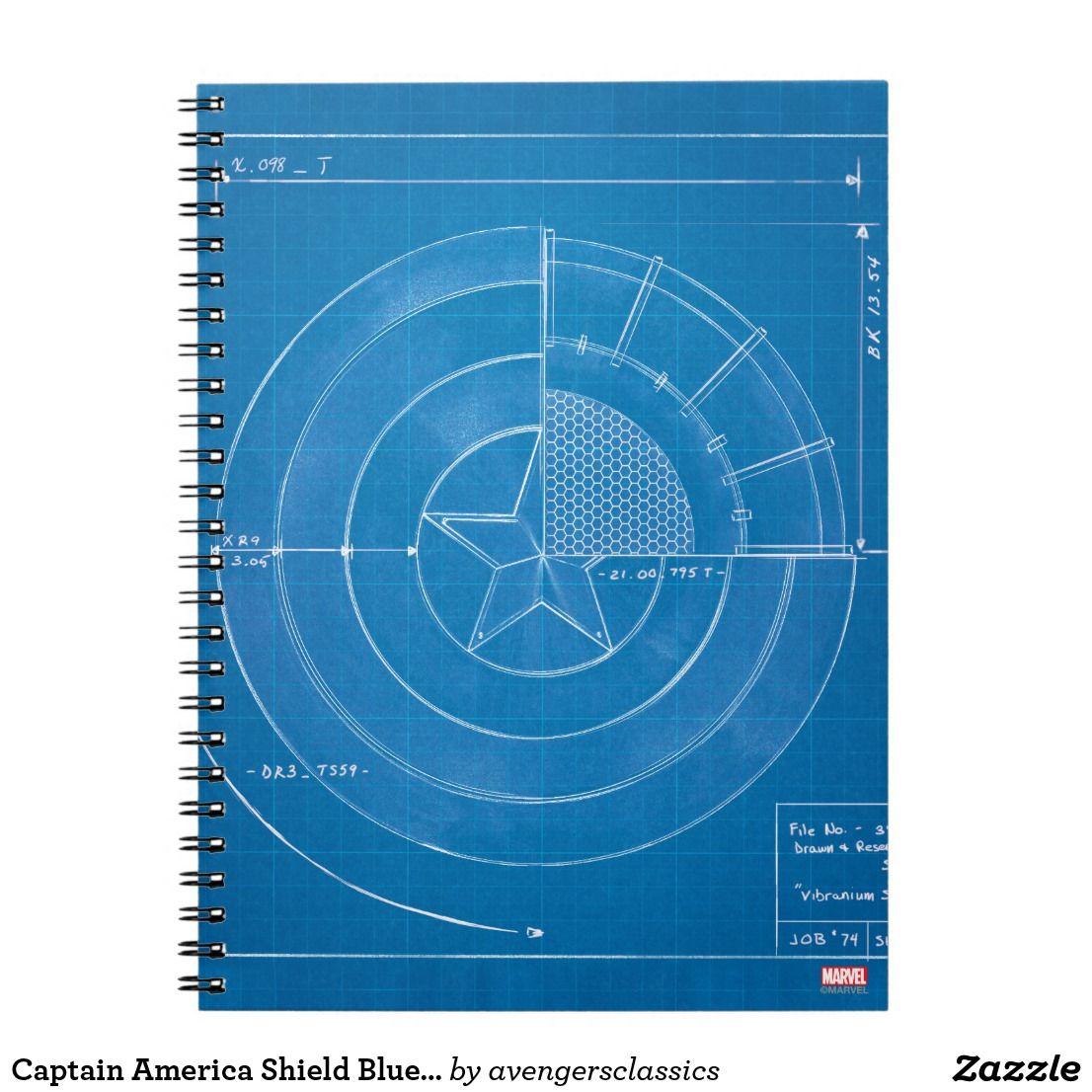 Captain america shield blueprint notebook captain america shield captain america shield blueprint malvernweather Images