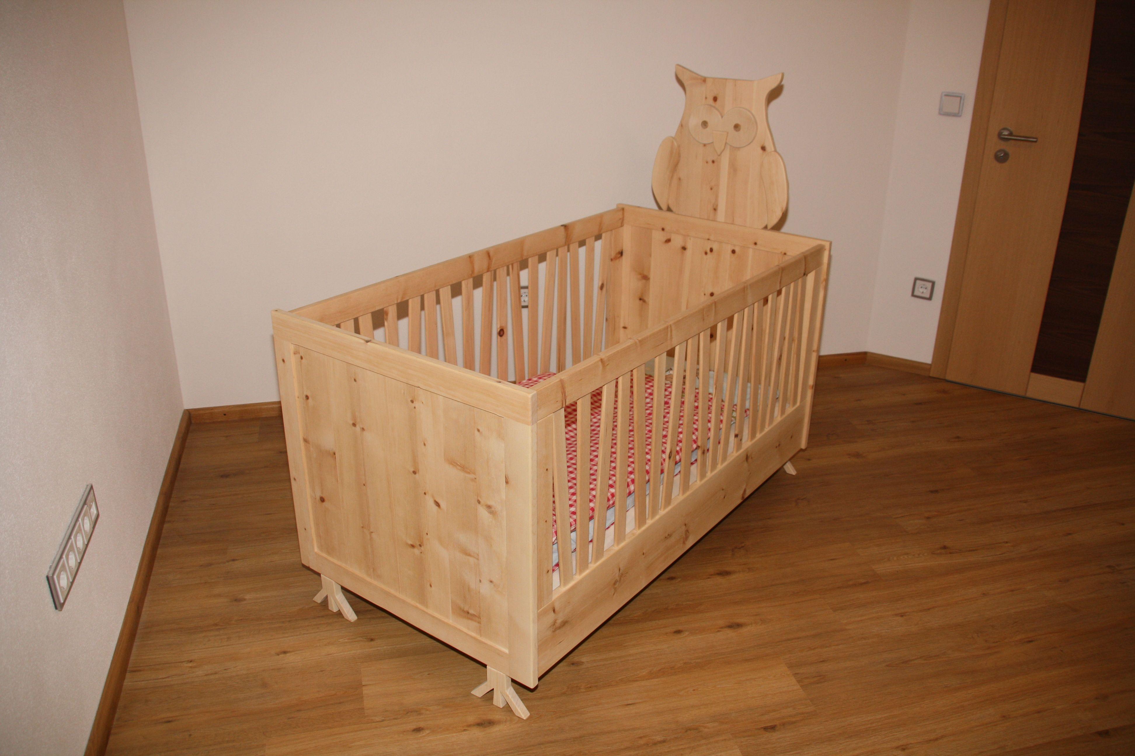Kinderbett Zirbe - Modell Eule ( Zirbelkiefer - Babybett ) Gesunder ...
