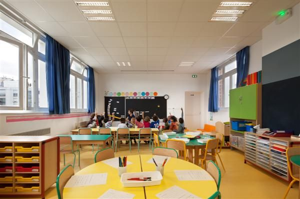 Modern Kindergarten Classroom Furniture ~ Modern one room schoolhouse designs school design