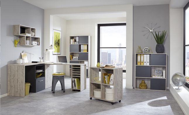 Ce bureau liam de couleur gris sable est particulièrement pratique