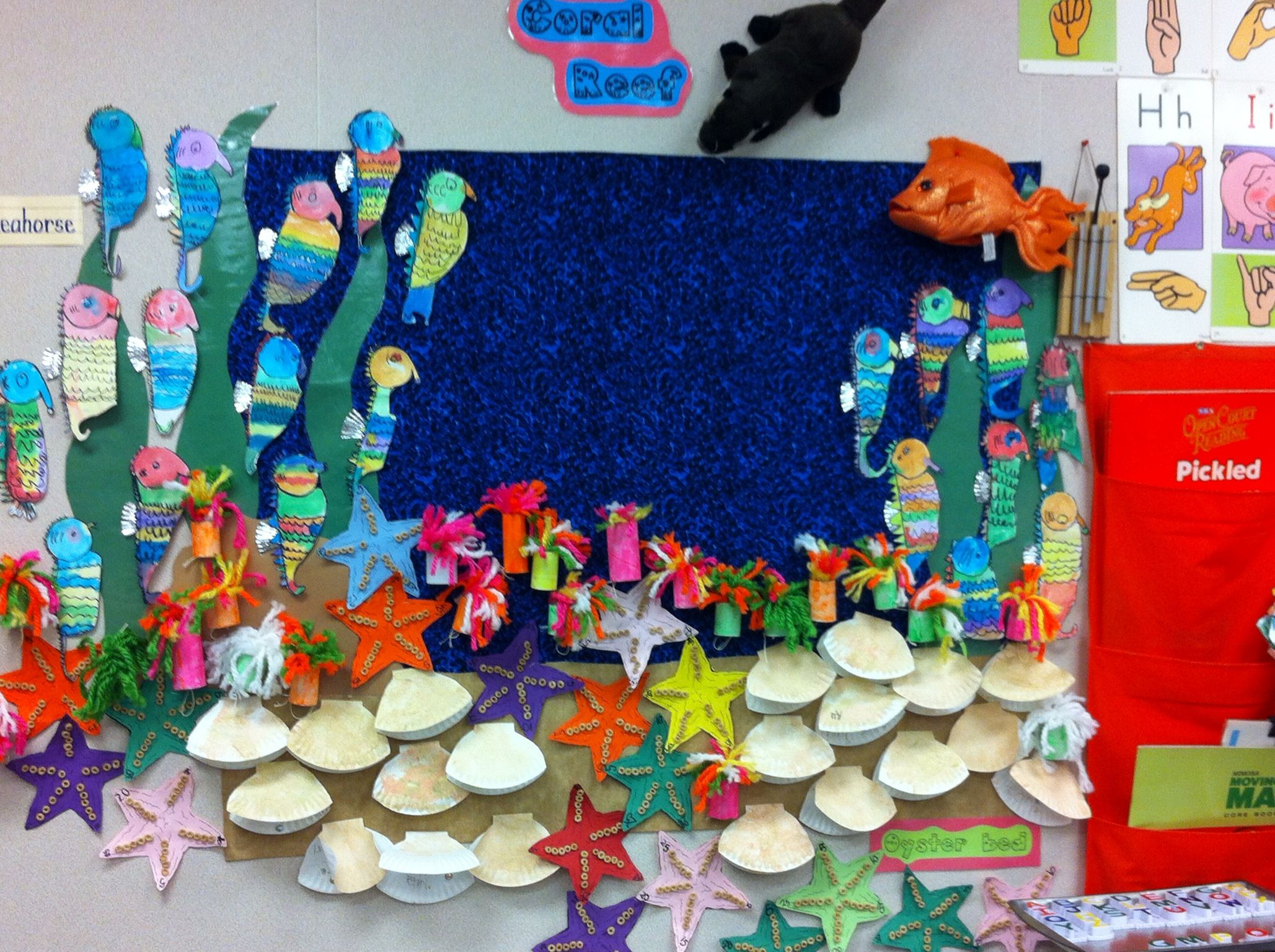 Our Coral Reef Bulletin Board Directed Drawing Sea Horses