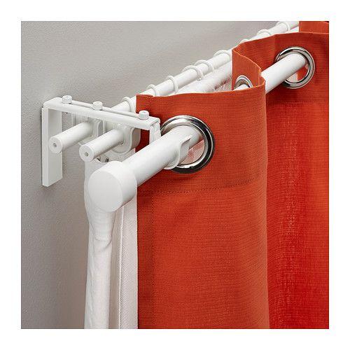 RÄCKA / HUGAD Triple Curtain Rod Combination