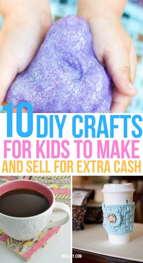 10 Crafts For Kids To Sell For Profit That Are Super Easy To Do #craftstomakeandsell