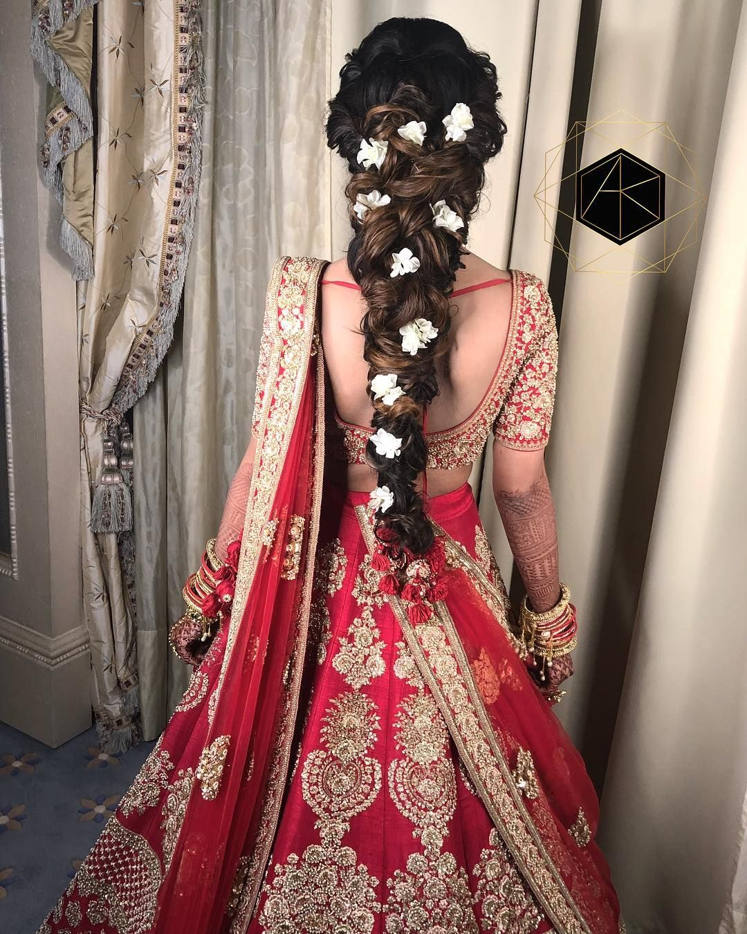 The Double Strand Braid To See More Http Www Functionmania Com Blog Braided Hair Looks Indian Wedding Hairstyles Indian Bridal Hairstyles Indian Hairstyles