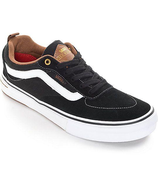 Vans Kyle Walker Pro Black and Gum Skate Shoes | Zumiez
