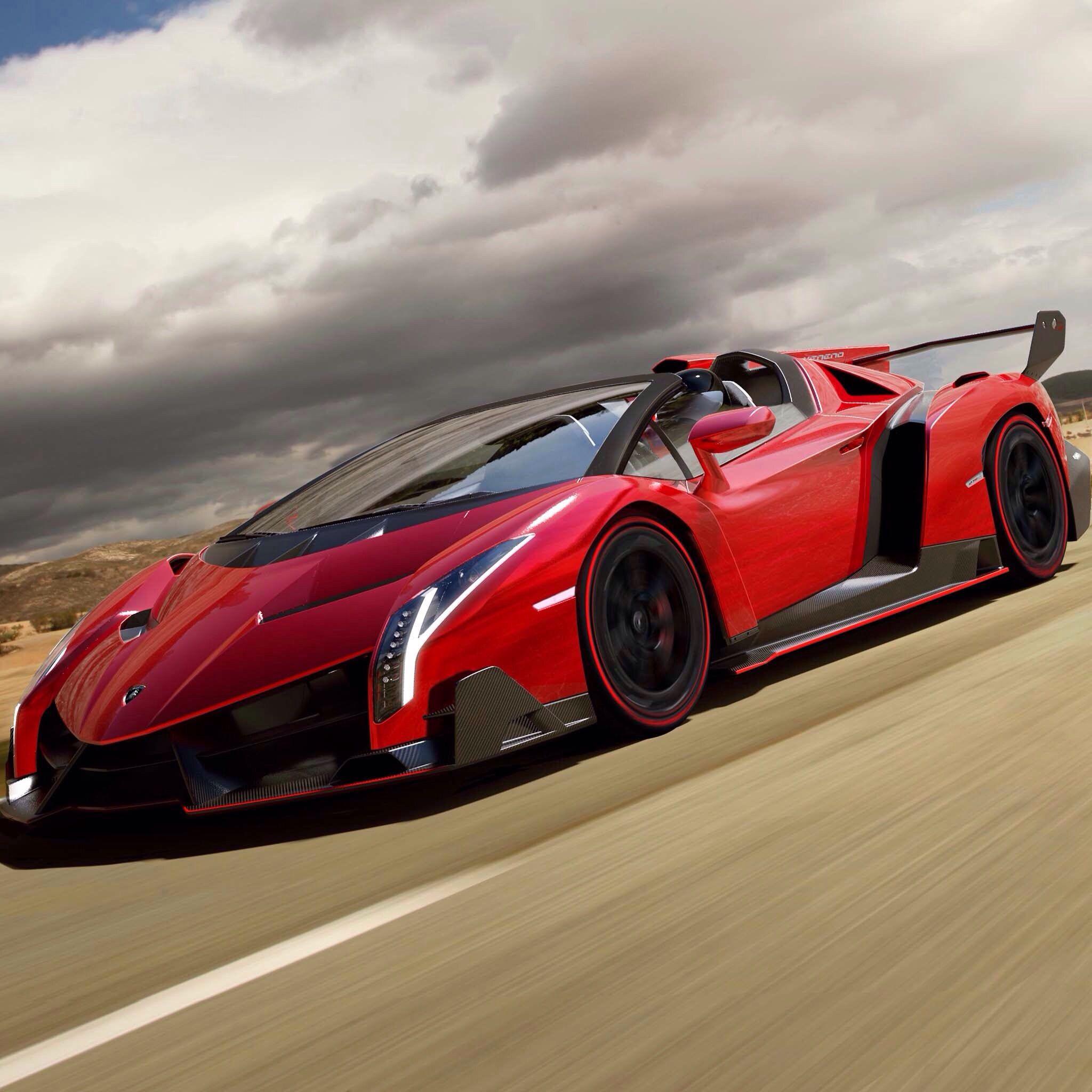 Cherry Red Lamborghini Veneno Sports Cars Luxury Roadsters