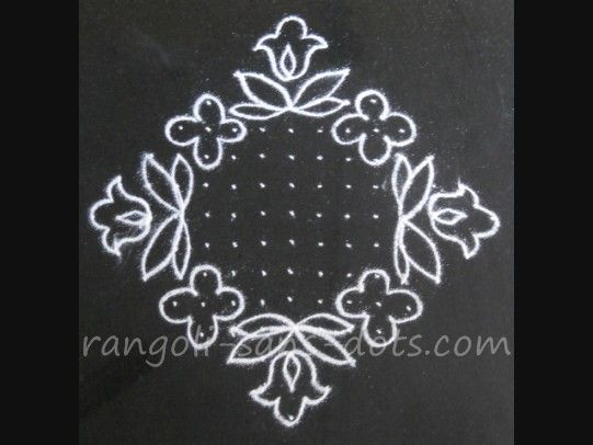 how to draw rangoli patterns step by step