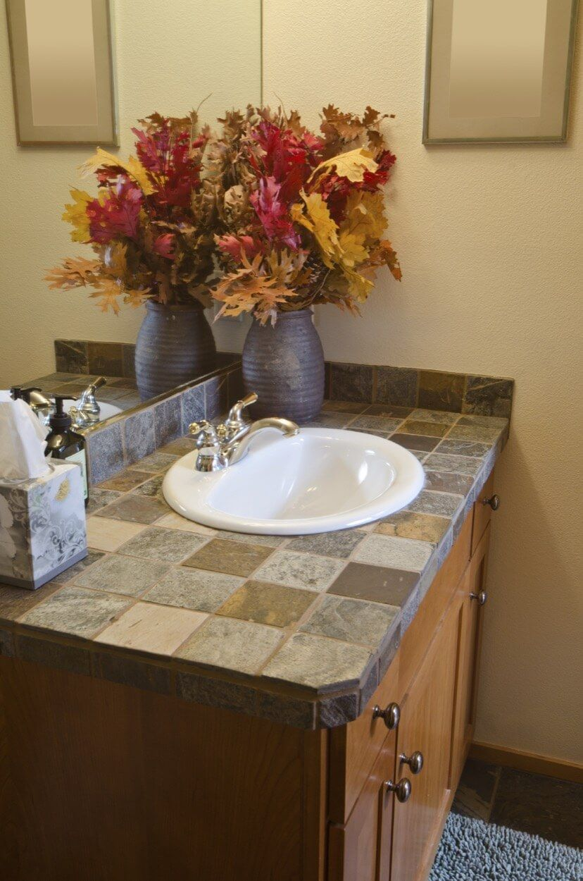 Bathroom design photos sink countertop how to install