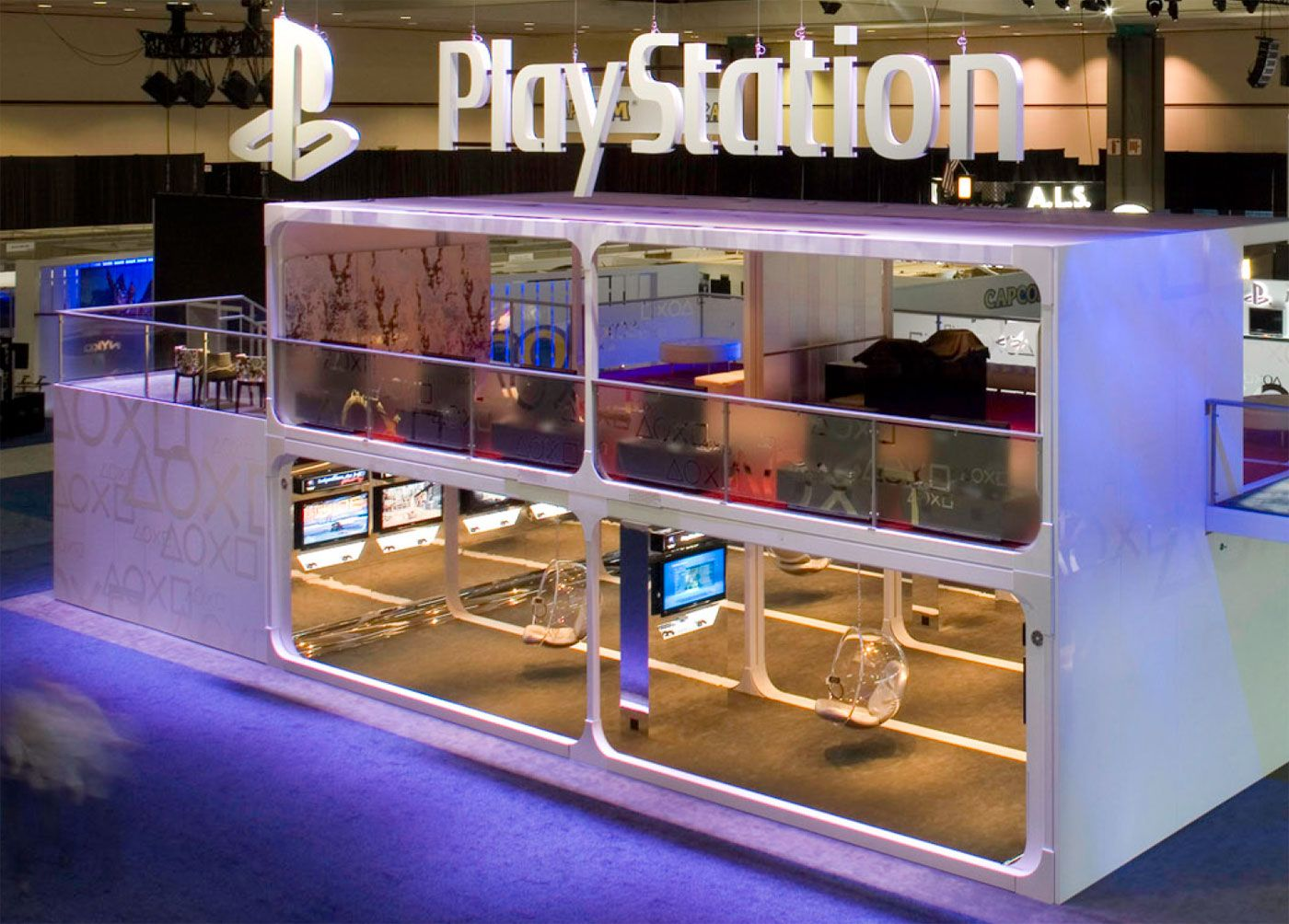 Exhibition Stand Games Ideas : Trade show playstation environment and design