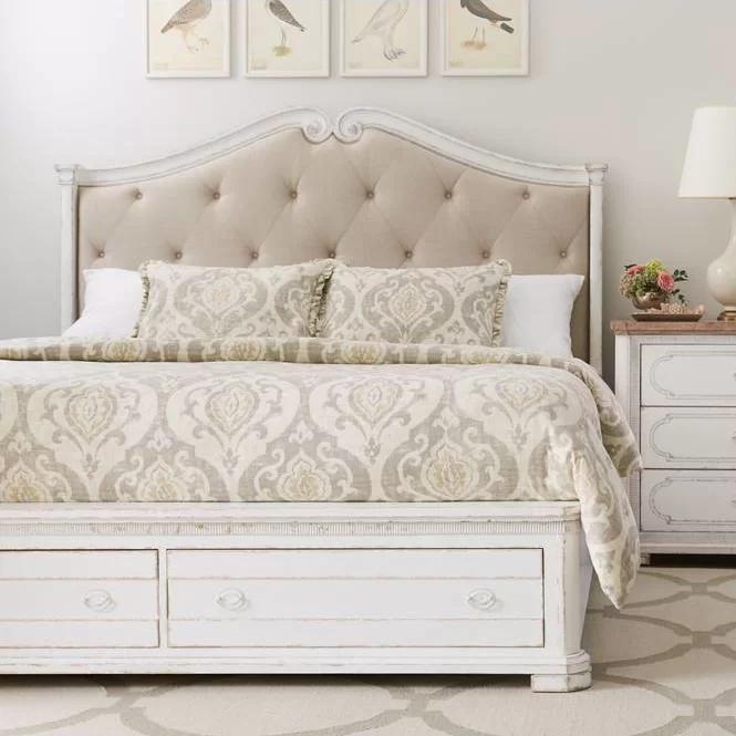 Juniper Dell Upholstered Storage Platform Bed & Reviews