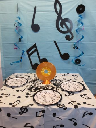 Sock Hop Party · Music Table Decoration #music #50s