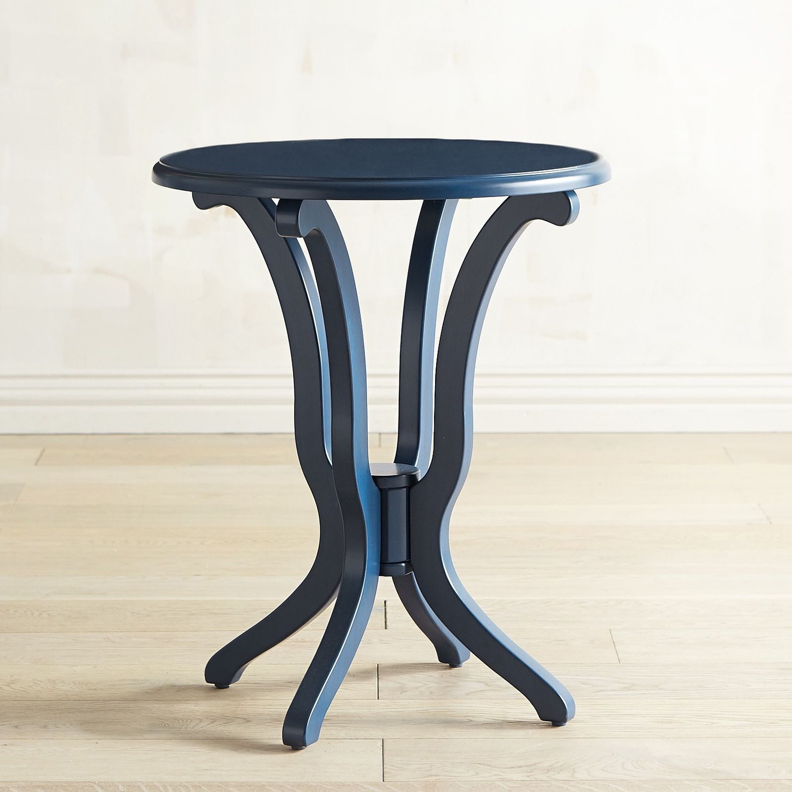 Best Daffodil Cobalt Blue Accent Table Brown Blue Living 640 x 480