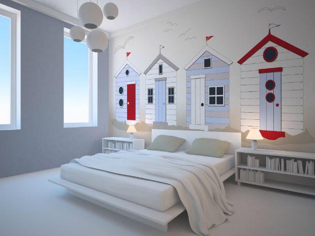 Beach Hut Bedroom Coastal Decor Decorating Wallpaper Home Uk