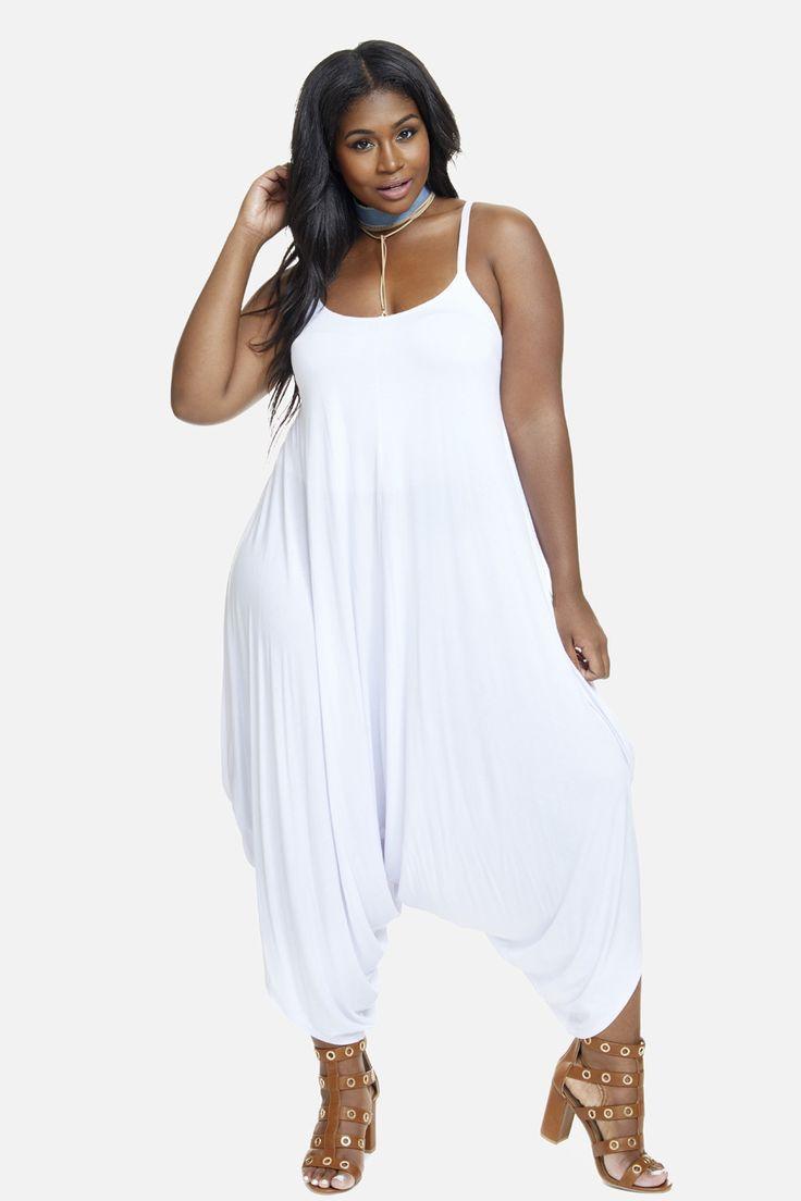 23dcdd3cada Plus Size Harem Jumpsuit (womens plus size) trendy summer dresses for curvy  women.