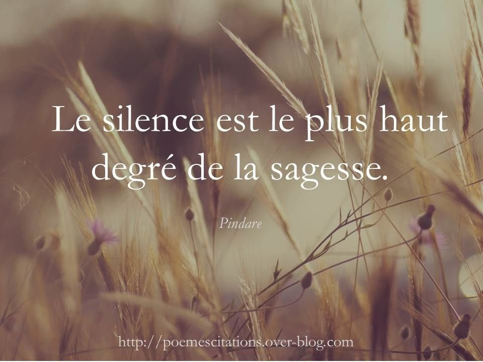 Le Silence Est Plu Haut Degre Poeme Et Citation Classe Dissertation Sur