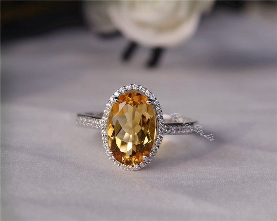 Citrine Ring Anniversary Ring Citrine Silver Ring Natural Citrine Ring Natural Citrine Ring 925 Sterling Silver Gift For Her