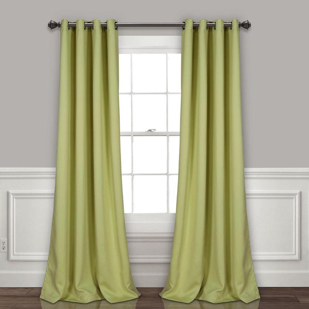Insulated Grommet Blackout Curtain Panels Sage Pair Set 52 X95