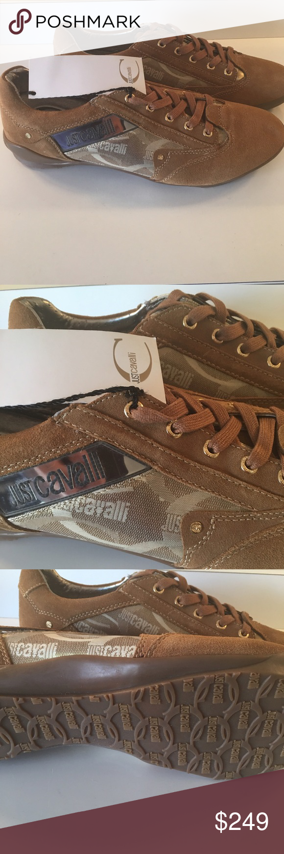 🆕ROBERTO CAVALLI  JUST CAVALLI NEW SNEAKERS AUTH JUST CAVALLI BU ROBERTO CAVALLI MENS NEW WITH TAGS NEVER WORN SNEAKERS. AMAZING STYLE AND FASHION IN THESE EYE CATCHING SNEAKERS. CAN BE WORN DRESS UP OR DOWN. THESE ARE A SIZE 44 or 11 Just Cavalli Shoes Sneakers