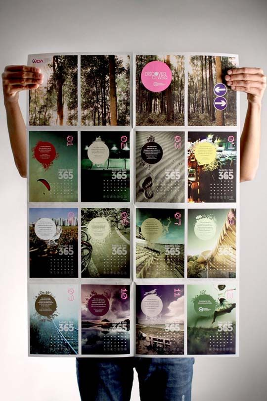 Showcase Of Creatively Designed Calendars Creative Calendar Calendar Design Calender Design