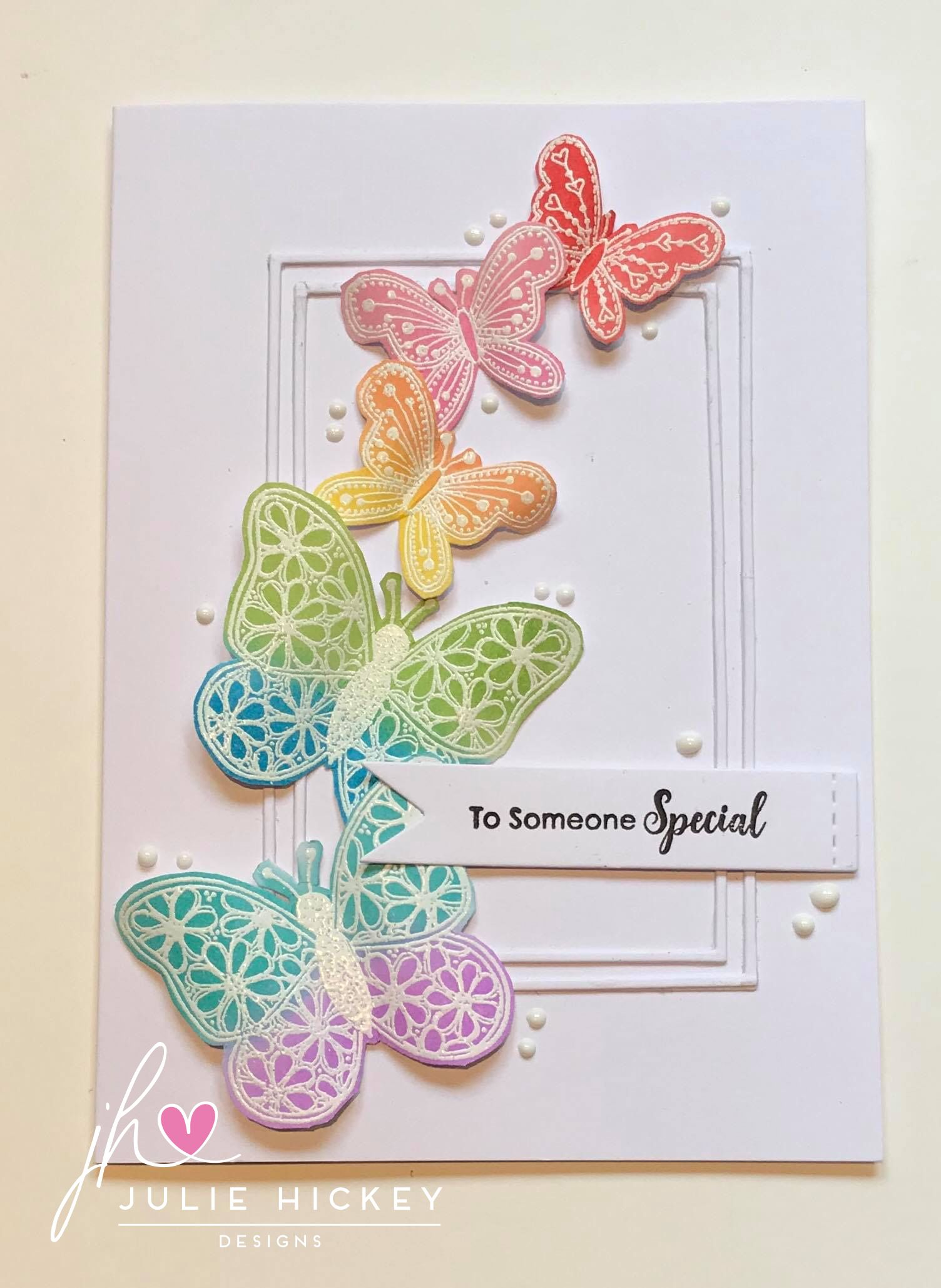 card created using julie hickey designs beautiful