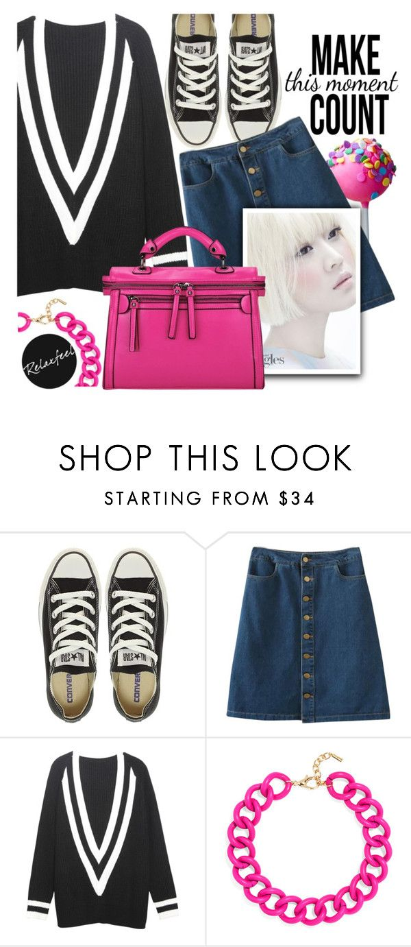 """""""Super Girl"""" by pokadoll ❤ liked on Polyvore featuring Converse, Relaxfeel, BaubleBar and vintage"""