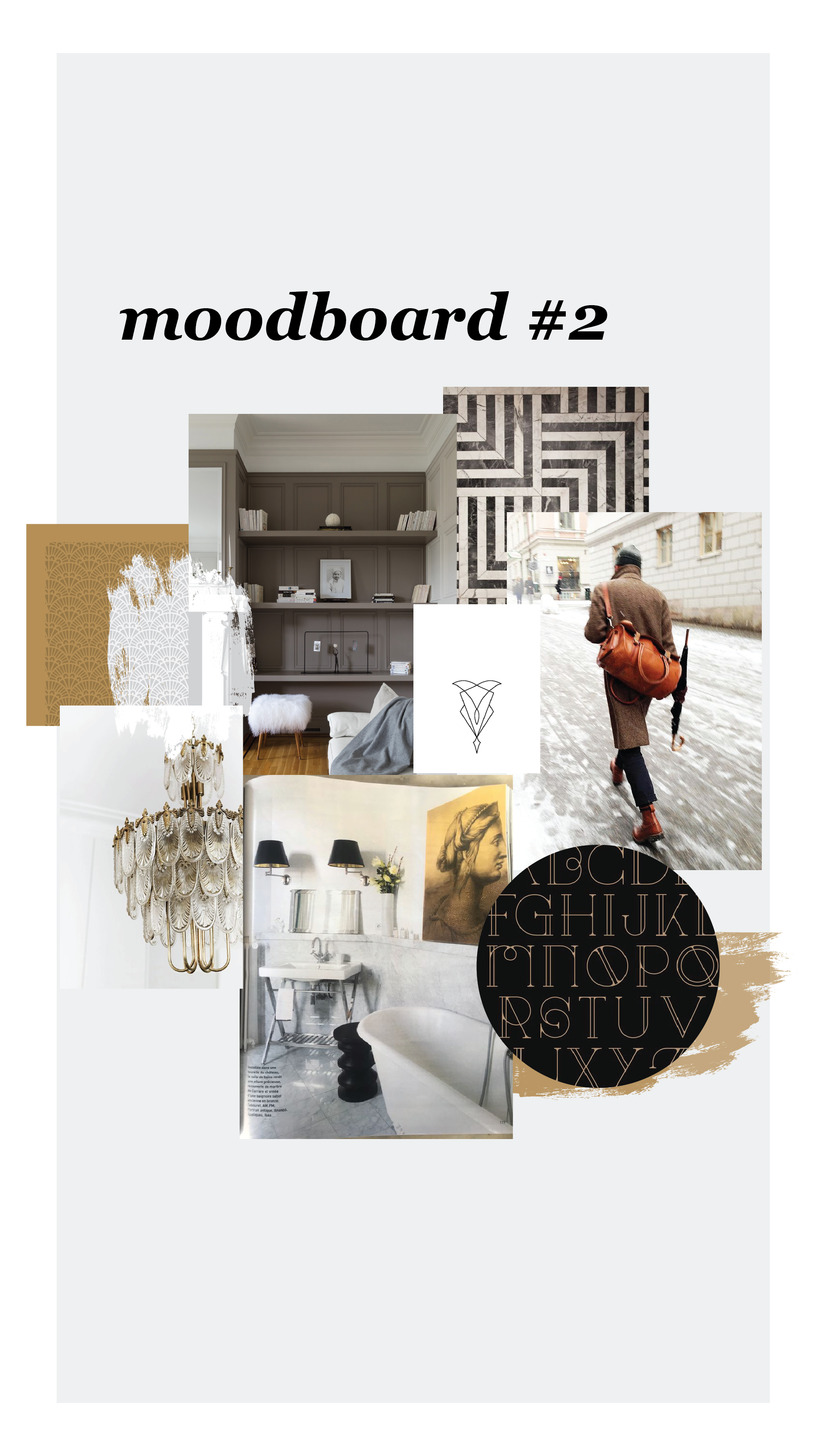Art Deco Interior Design Moodboard Brand Design By Mkw Graphics
