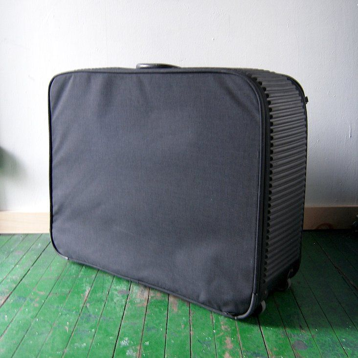 "fc47a66f2a3 Vintage Mandarina Duck ""Tank"" suitcase, the classic rubberized collection  launched in 1981, the picture of 80s European travel chic."