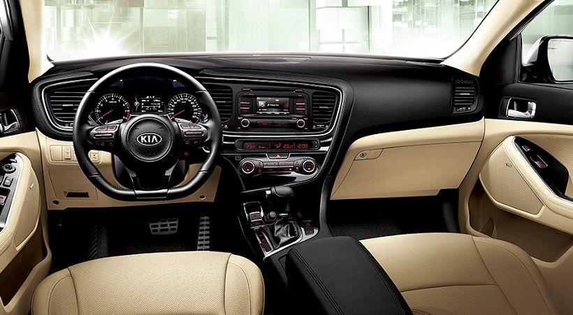 Charming Kia Optima 2014 Interior! #Sleek #Leather #SteeringWheel #Technology  #Dashboard #Radio