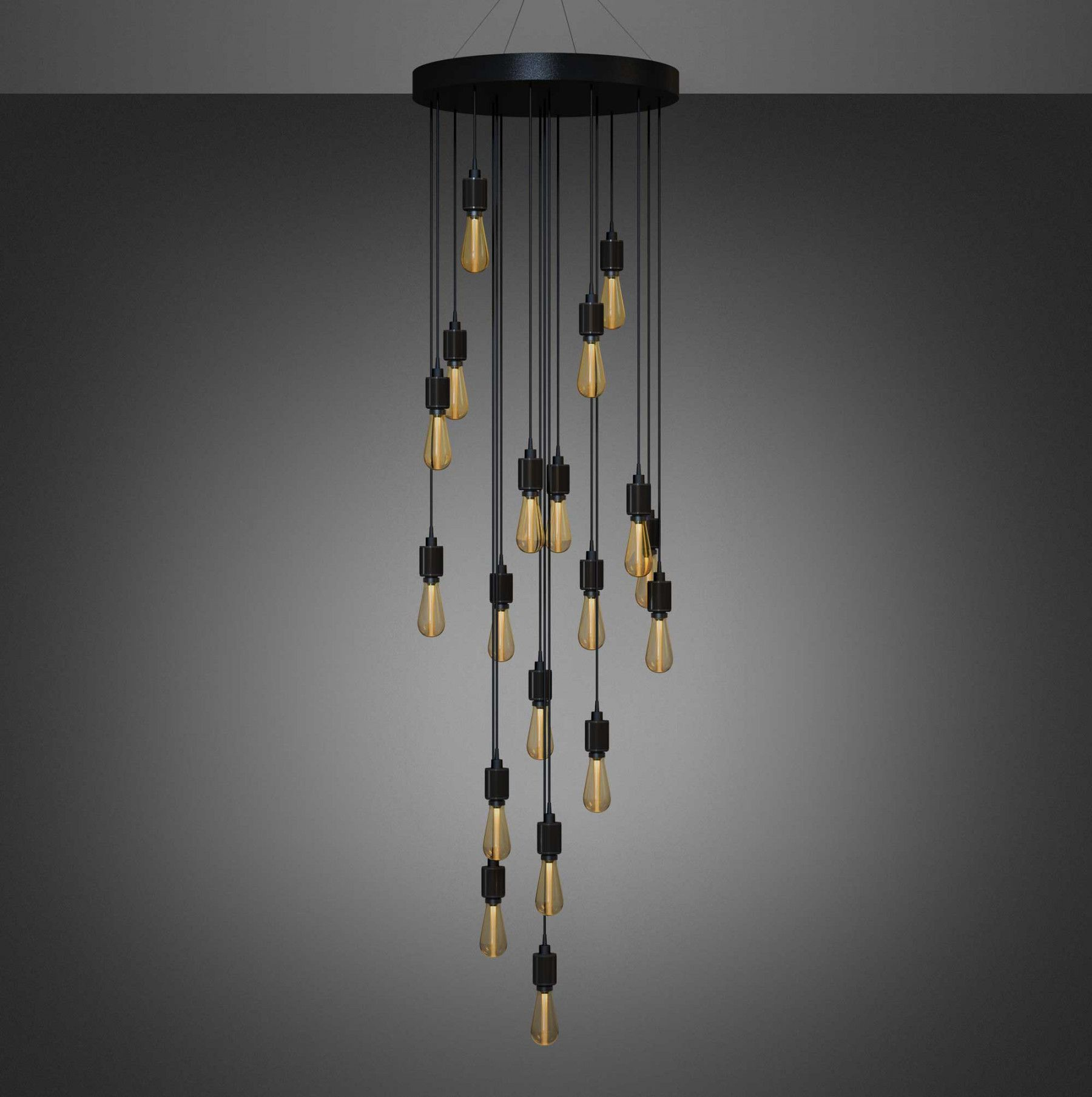Led heavy metal chandelier bespoke chandeliers and heavy metal a bespoke chandelier with either 19 or 31 light pendants made from solid metal built arubaitofo Images