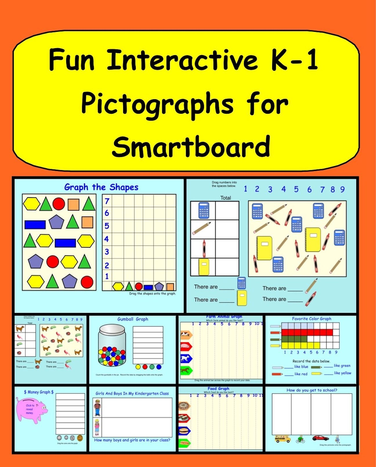 Smartboard Interactive Pictographs Gr 1 | Interactive whiteboard ...