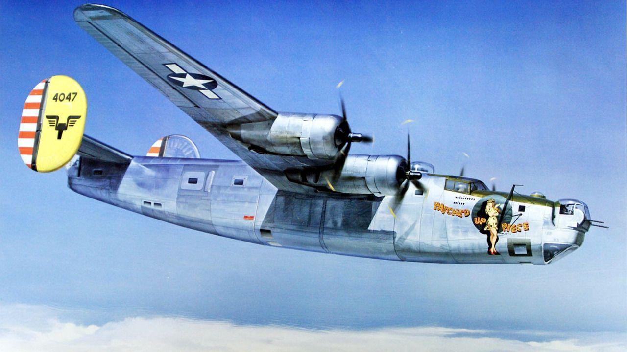 1944 B-24 F-7A 리버는 20 전투 매핑 소대 6 PRG20th CMS 항공기 역사 '조각을 패치': A B-24J-1-CF 해방자로…