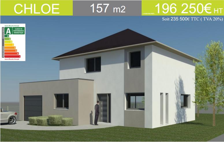 maison cubique avec toit