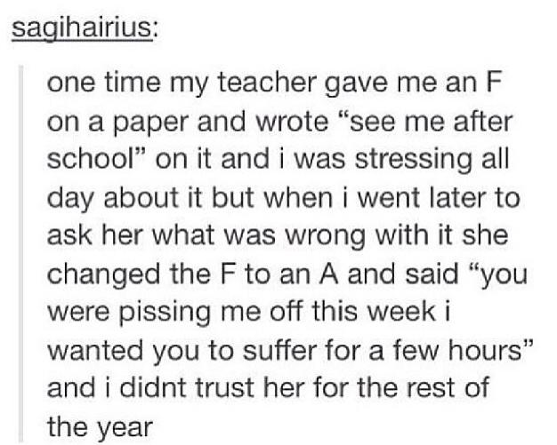 What the heck do I tell my teacher?