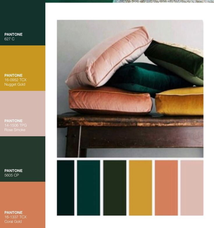 Photo of moody mustard jade and blush tones #colorpalette